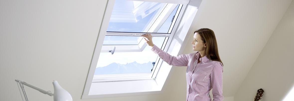 Insektenschutz für Dachfenster.